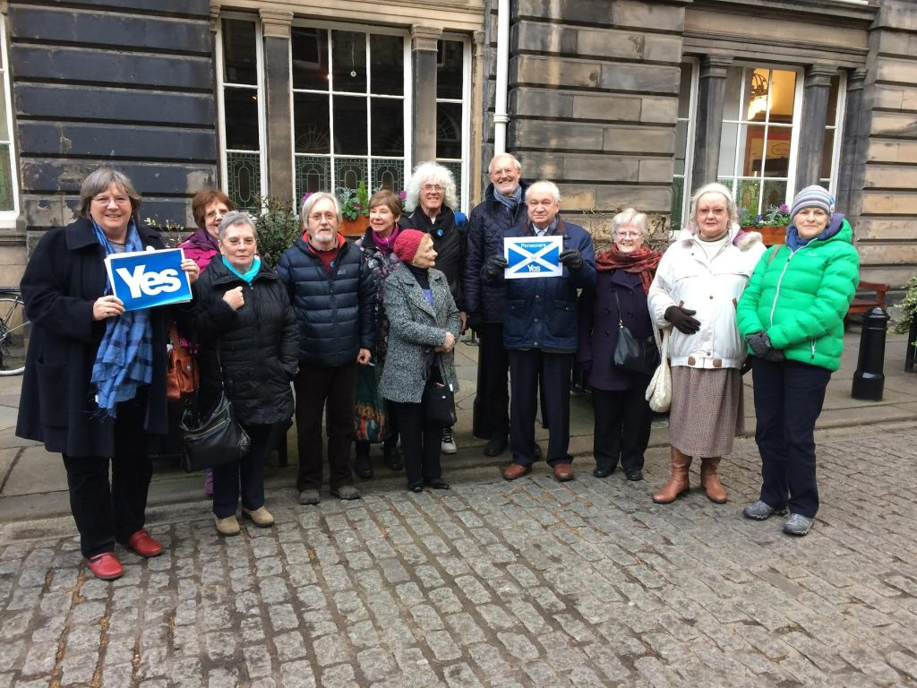 Photograph of Edinburgh members after recent meeting